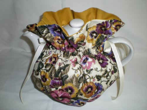 Why Should You Buy Pansy and Gold Tea Pot Cozy - Fits 6 Cup Teapot - Reversible