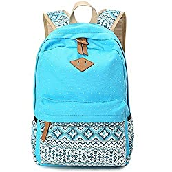 Minch School Backpack Polka Dot Casual Style Lightweight Canvas 14