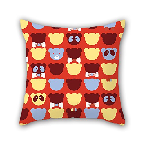 PILLO Throw Pillow Case Of Bear 18 X 18 Inches / 45 By 45 Cm,best Fit For Sofa,teens Girls,bf,gril Friend,father,husband