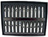 タトゥー TATTOO 刺青 マシーン 用 ステンレス 金属 フラット ダイアモンド ラウンド チップ キット 22本 セット 入れ墨 和彫り 彫り師 彫師 手彫り スジ彫り など