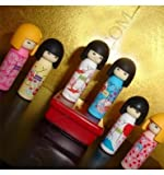 Iwako Japanese Erasers Kokeshi Dolls Set of 6