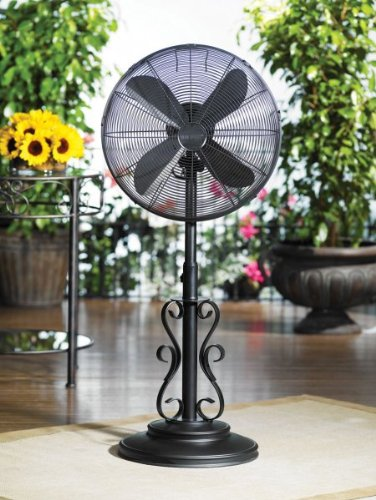 Eighteen Inch Outdoor Standing Fan (Black) (38.5