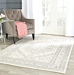 Safavieh Adirondack Collection ADR108B Ivory and Silver Area Rug, 3 feet by 5 feet (3\' x 5\')