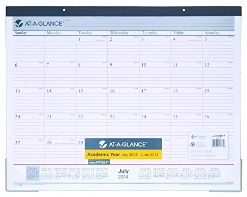 At A Glance 2014 2015 Academic Year Monthly Desk Pad And