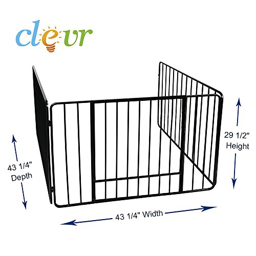 Clevr quot fireplace safety fence screen gate
