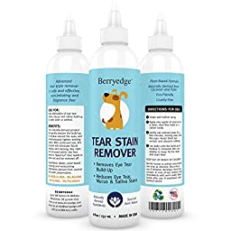 Dog Tear Stain Remover - Keep Eyes Clean Bright & Healthy - Prevent Staining, Crust & Gunk Build-up - Great for White Fur & Maltese - Best Safe & Natural Formula for Dogs & Cats - Made in USA 8 fl oz