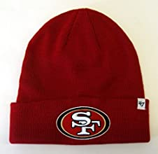 San Francisco 49ers 47 Brand Knit Beanie Fold Red by NFL