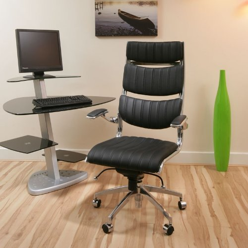 Black Executive Office Chair Ergonomic ULTRA MODERN 360
