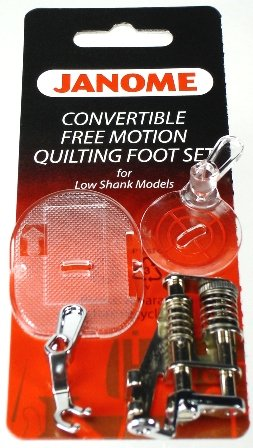 Janome Convertible Free Motion Quilting Foot Set for Low Shank Models