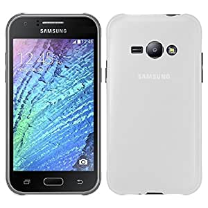 Samsung Galaxy J1 Ace / Pop case, KuGi ® frosted style High quality ultra-thin Soft TPU Case for Samsung Galaxy J1 Ace / Pop smartphone. (White)