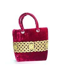 Arisha Kreation Co Women Hand Bag (Magenta) - B00WIF0AHI