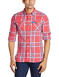 Superdry Men's Cotton Casual Shirt (5054265375880_M40ME018F2_XX-Large_Reef Red Check)