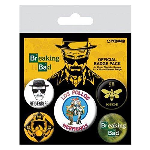 Breaking Bad Los Pollos Hermanos pacchetto piatto 5-Button