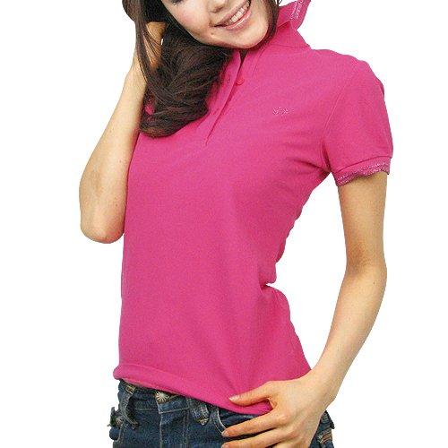 (フレッドペリー)FRED PERRY ポロシャツ ラメライン LADYS ピンク G5722-695