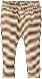 Zutano Baby Girls Candy Stripe Skinny Legging, Chocolate, 12 Months