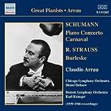 echange, troc  - Robert Schumann : Concerto pour piano ; Carnaval / Richard Strauss : Burleske