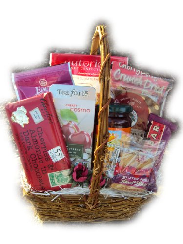 Cherry deluxe healthy gift basket findgift