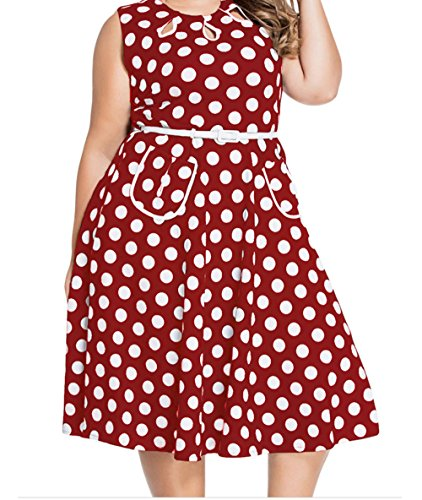 christmas-yeeatz-polka-dot-bohemain-print-dress-with-keyholesredl