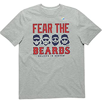 Sully's Brand. Mens Boston Red Sox Tee - Fear The Beards - Heather Gray (S)
