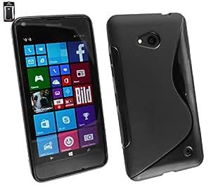 Emartbuy® Ultra Slim Gel Skin Case Cover Black For Microsoft Lumia 850