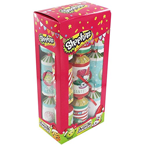 Pack Of 12 Shopkins Christmas Xmas Crackers Kids Childrens