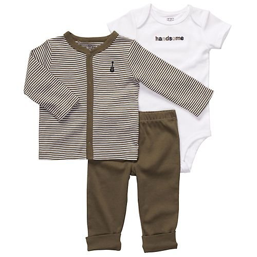 Newborn Baby Boy Clothes onSalez Carters Brown Rockstar 3