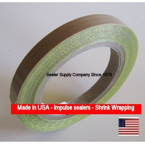 12-x-10-Yds-x-3-mil-PTFE-Adhesive-Heat-Tape-Roll-Silicone-550-F-for-Impulse-or-vacuum-sealers