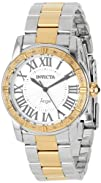 Invicta Womens 14376 Angel Silver Dial Diamond-Accented