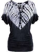 LL Womens Heart shape Tie-Dye Dolman Top