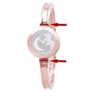 Watch case Screw Tube bar for Bvlgari B.ZERO1 Quartz Watch Bracelet (Rose Gold Color) (Color: Rose gold color)