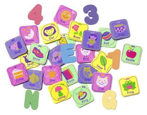 Munchkin 60 pieces Foam Bath Learning Toy Pack, Girls
