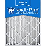 Nordic Pure 16x25x4 AC Furnace Air Filters MERV 12, Box of 2