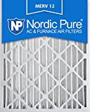 nordic pure 16x25x4 ac furnace air filters merv 12 box of 2
