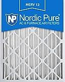 Nordic Pure  19 1/2 x 24 1/2 x 3 5/8 AC Furnace Air Filters MERV 12, Box of 2