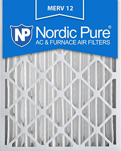 Nordic Pure 16x25x4 AC Furnace Air Filters MERV 12, Box of 2 (16 By 25 Furnace Filter compare prices)
