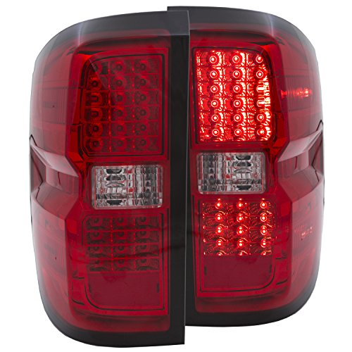 Anzousa 311213 Red/Clear Led Tail Light For Chevrolet Silverado