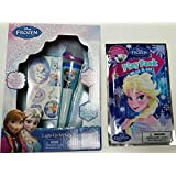 "Disney Frozen Light Up Music Melody Microphone ""Do You Want To Build A Snowman"" With Stickers &""Grab And Go"" Play..."
