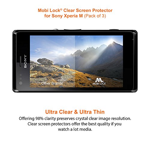 Sony Xperia M Clear Screen Protector (Pack of 3) - by Mobi Lock?...