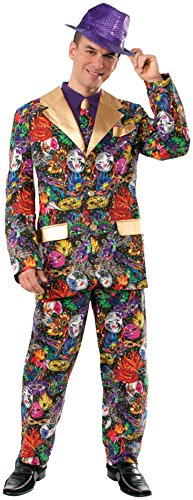 Forum Novelties Men's Mardi Gras Suit and Tie Costume