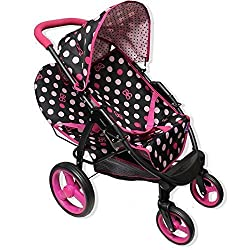 Like Bugaboo Twin Doll Stroller Swivel Wheels Little Lady Collection