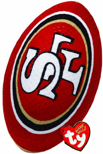 Ty Beanie Ballz NFL RZ San Francisco 49Ers Football Plush