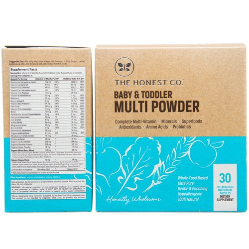 The Honest Company Baby & Toddler Multi Powder 30 packets - 1