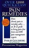 Pain Remedies (0440226554) by Goldberg, Philip