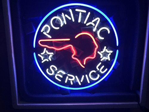 Urby® Pontiac Service Neon Light Sign Beer Bar Pub Real Glass 17''x13'' High Quality! NA33 (Pontiac Glass compare prices)