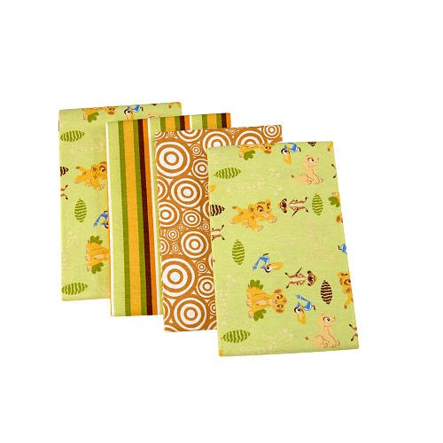 Disney Baby Simba 4 Pack Receiving Blankets - 1