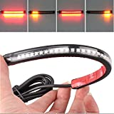 3528 Pasted 32 LED Motorcycle Flexible Strip Tail Brake Stop Turn Signal License Plate Light Integrated Red Amber Truck