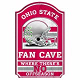 NCAA Ohio State Buckeyes 11-by-17 Fan Cave Wood Sign Amazon.com