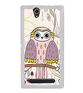 Owl on a Tree Branch 2D Hard Polycarbonate Designer Back Case Cover for Sony Xperia C4 Dual :: Sony Xperia C4 Dual E5333 E5343 E5363