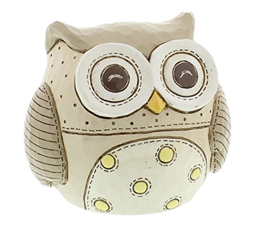 Baby Owl Resin Beige Money Box By Haysom Interiors
