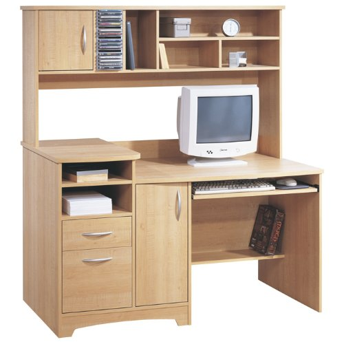 Buy Low Price Comfortable Sweet Maple Computer Desk With Hutch Sweet Maple (B000UATZ9C)